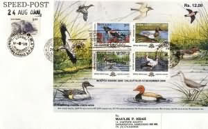 Indepex-Asiana 2000, 14th Asian International Stamp Exhibition, Calcutta (2nd Issue) Migratory Birds