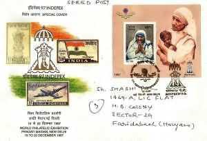 INDIPEX-97, International Stamp Exhibition, New Delhi - Mother Teresa - Jaihind