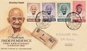 First Anniversary of Independence-Mahatma Gandhi Mourning Issue