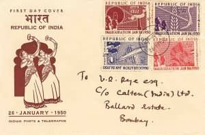 Inauguration of Republic of India - Small Cover