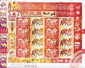 Shekhawati and Warli Paintings